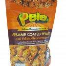 Pele 4 Packs of Sesame Coated Peanuts, Deliicious Homemade Nut Snack
