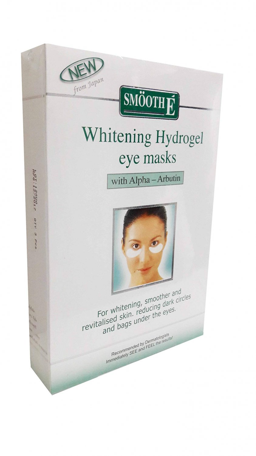 Smooth E Whitening Hydrogel Eye Masks with Alpha-arbutin, for Whitening,