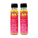Somthawin-angki Thai Aroma Herb Yellow Oil 24cc (Pack of 2) Made o