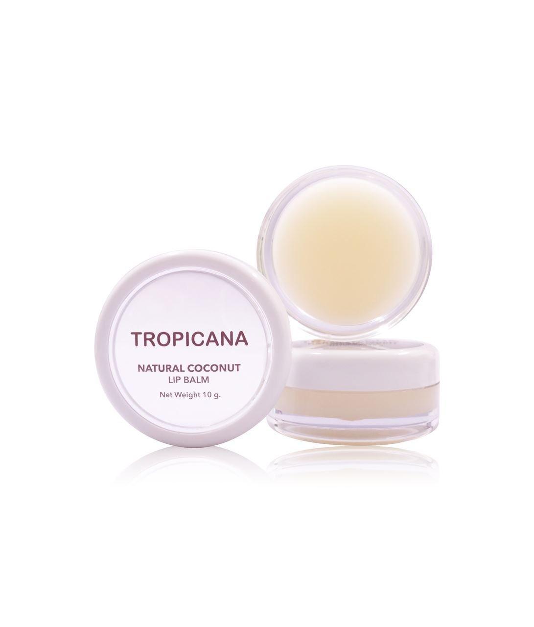 6x Natural Coconut Lip Balm Moisture (Non-Preservative) Coconut Delight
