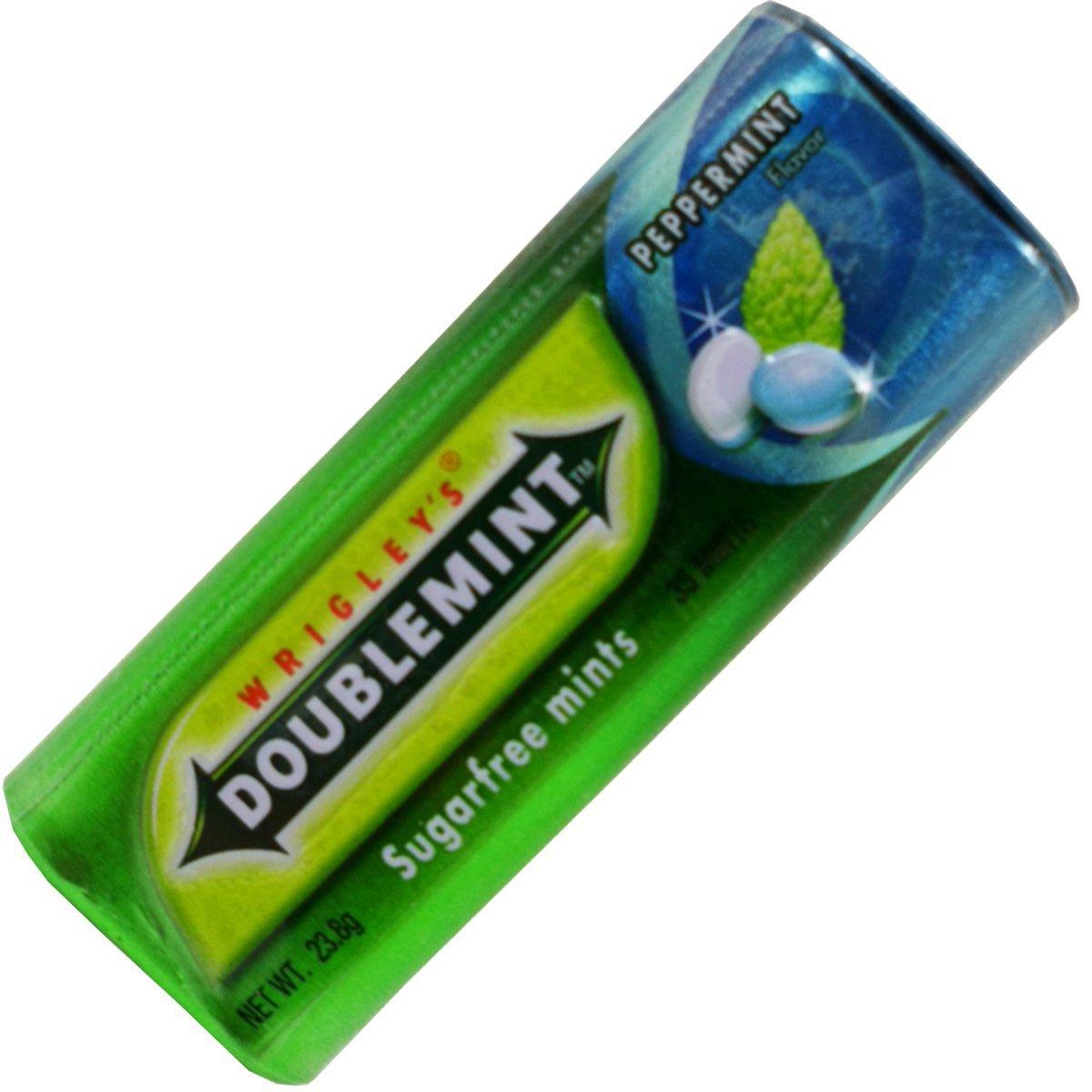 Wrigleys Doublemint Candy Peppermint Flavor Sugar Free Net Wt 23.8 G