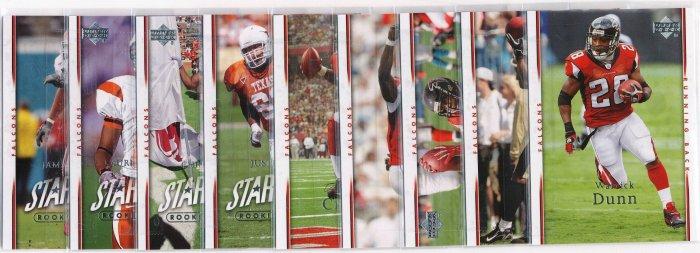 2007 Upperdeck UD Atlanta Falcons COMPLETE TEAM SET!!