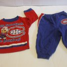 Canadiens Blue Pyjamas Baby PJs 12 Months 100% Cotton