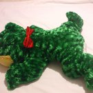 Green Plush Frog Stuffed Animal 22 Inches Long 21 Inches Wide