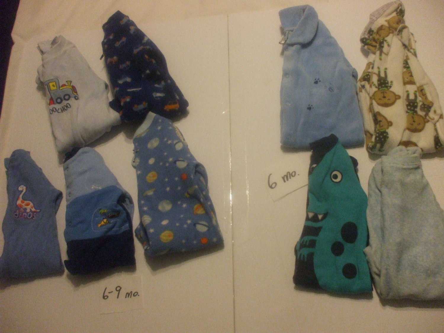 Lot 9 Baby Rompers 6-9 Months Cotton Blends