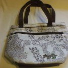 Foxy Jeans Hot Or Cold Insulated Bag Foldable White With Brown Detailing