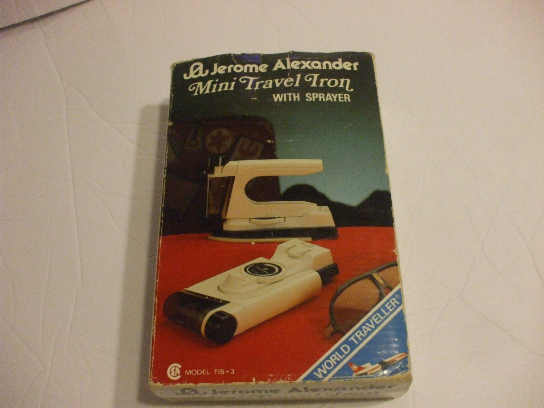 Mini Travel Iron with Sprayer Dual Voltage Model TIS 3 Jerome Alexander
