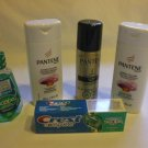 Pantene and Crest  Travel Size Kit 5 PC Toiletries For Travel