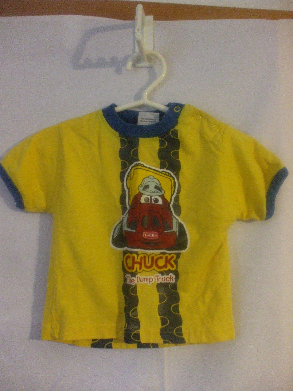 Tonka Chuck The Dump Truck Yellow T Shirt 12 Months 100% cotton