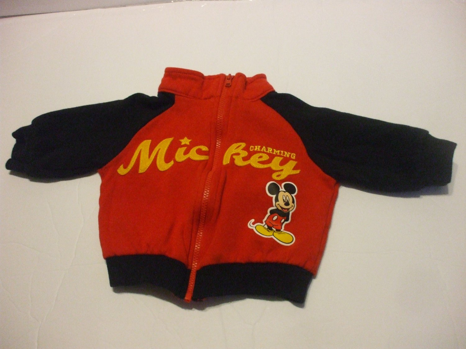 Mickey Mouse Red Long Sleeve Jacket Baby 3-6 Months Cotton Blend