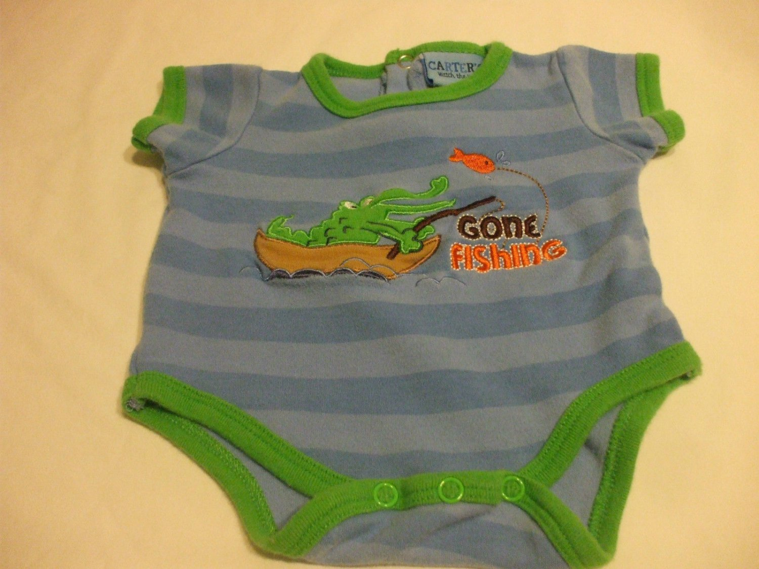 Baby Romper 0-3 Months 100%  Cotton  Carters Watch The Wear