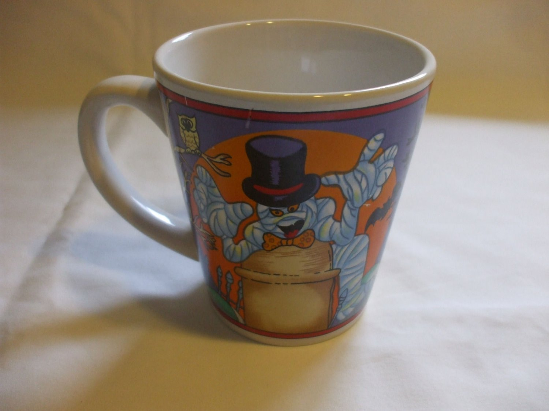 12 Oz Purple Halloween Mummy Mug Glass Cup