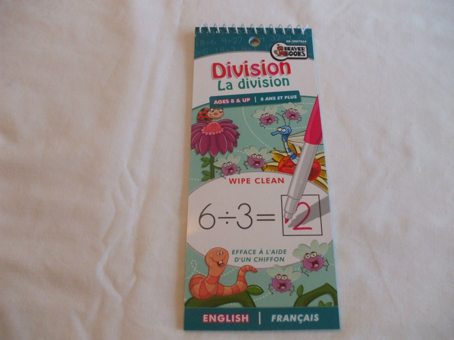 Division Wipe Clean Pad English & French Ages 8+   Beaver Books