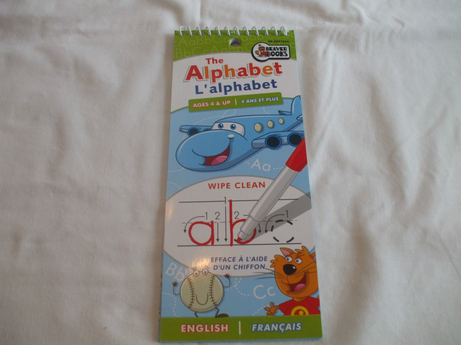 Alphabet Wipe Clean Pad English & French  Ages 4+  Beaver Books