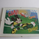 Mickey Mouse And Goofy Playing Soccer Framed  Puzzle Wall Art