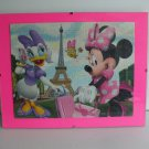 Minney Mouse And Daisy Duck Paris Vacation Framed Puzzle Wall Art