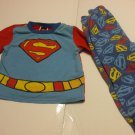 Toddlers Superman PJs Pyjamas 2T 100% Cotton