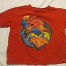 Superman Red T-Shirt Size 3 100% cotton George