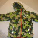 Kids 2 in 1 Kamic Vest And Jacket With Hood Size 10 Boys 100% Polyester Green