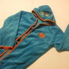 Kids Blue Bathrobe With Hood 100% Polyester size 7/8 Sweet Monsters
