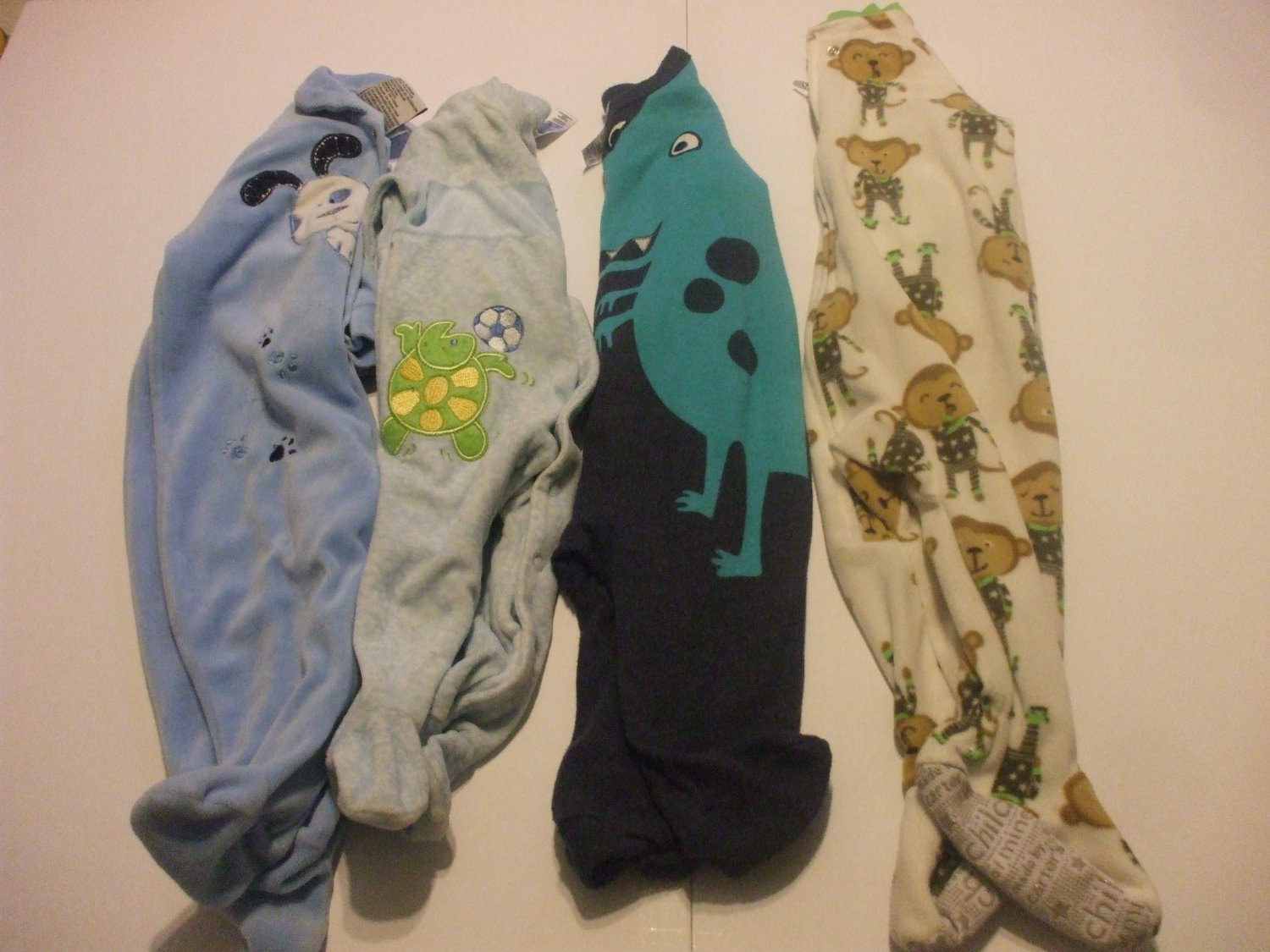 4 Baby Rompers 6 Months Cotton Blends