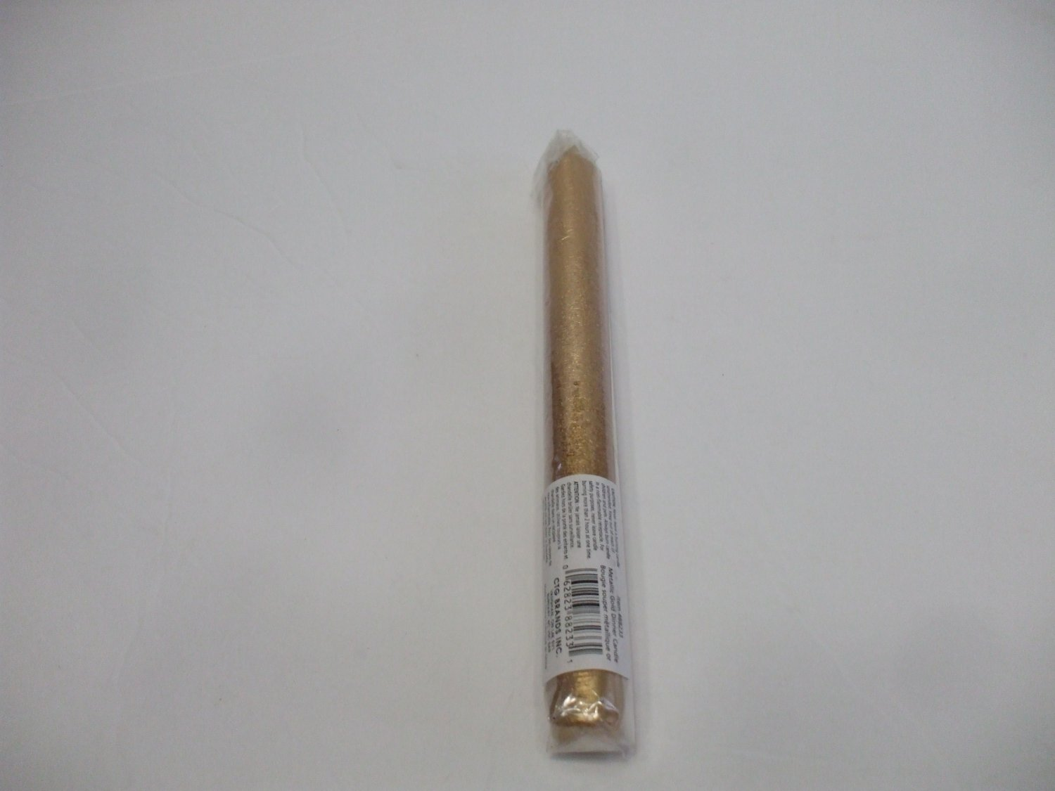 Gold paraffin Taper Candle God Male Sun 9 Inches Tall