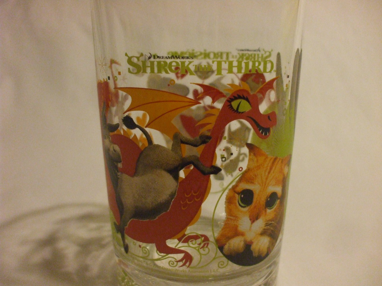 Collector's Dreamworks Shrek The Third, 16oz.  HEAVY DUTY  Beverage Glass 2007 McDonald's logo
