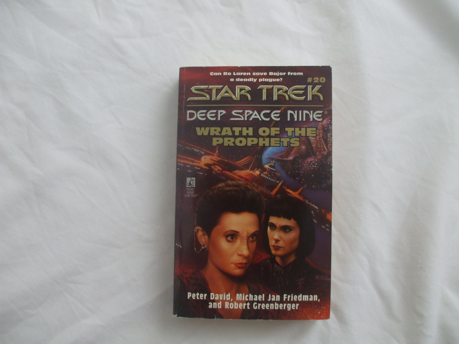 Softcover paperback book #20  Star Trek Deep Space Nine Wrath of the prophets