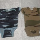 2 Camouflage Infant Baby Rompers M 19-28 LBS