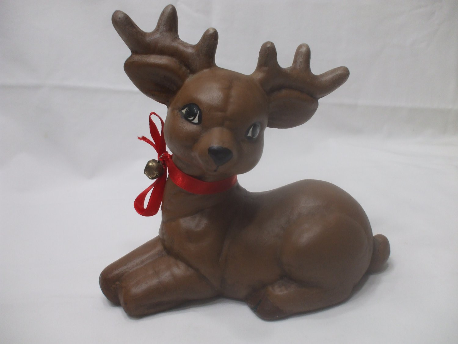 Christmas Brown Reindeer Handmade Clay Holidays