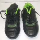 Kids Unisex Black Leather Outdoor Soccer Shoes Athletic Works Alan B size 5