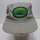 Train Conductor Style Striped Adjustable Cap One Size Fits All