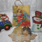 4 EMPTY  Christmas Holiday Seasons Paper Gift Bags