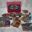 Red Bakugan Battle Brawlers Plastic Carrying Case 24 cards And 7 Balls