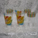 6 Large Plastic Picnic Soda Tumblers hold 2 1/2 cups liquid