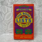 The People's Almanac  Book Of Lists 90's Edition Hardcover With Dust Jacket