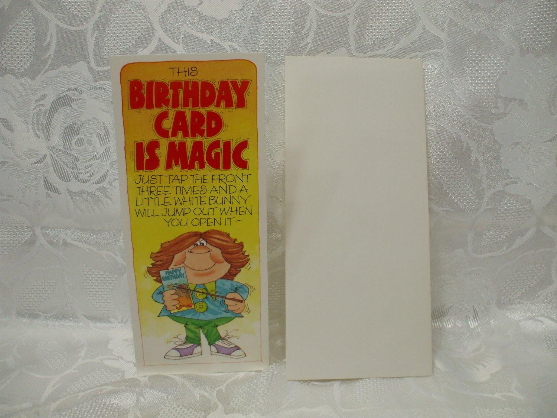 Magic Birthday Card With Envelope