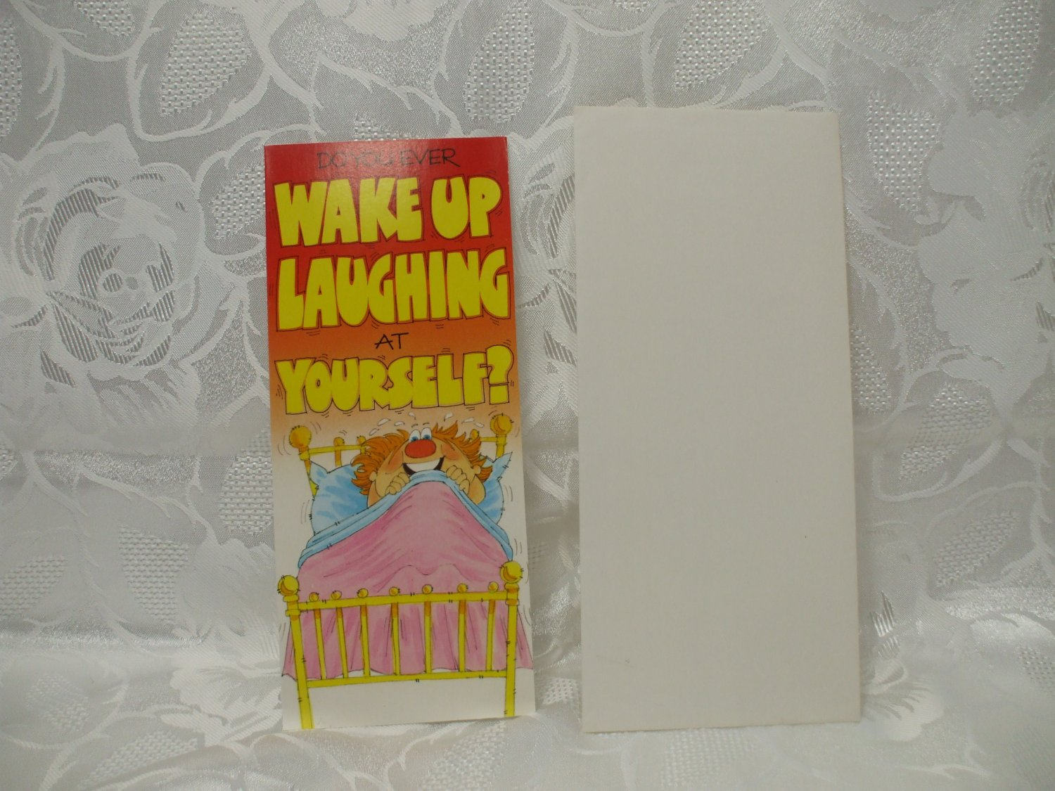 Wake Up Laughing Birthday Card With Envelope
