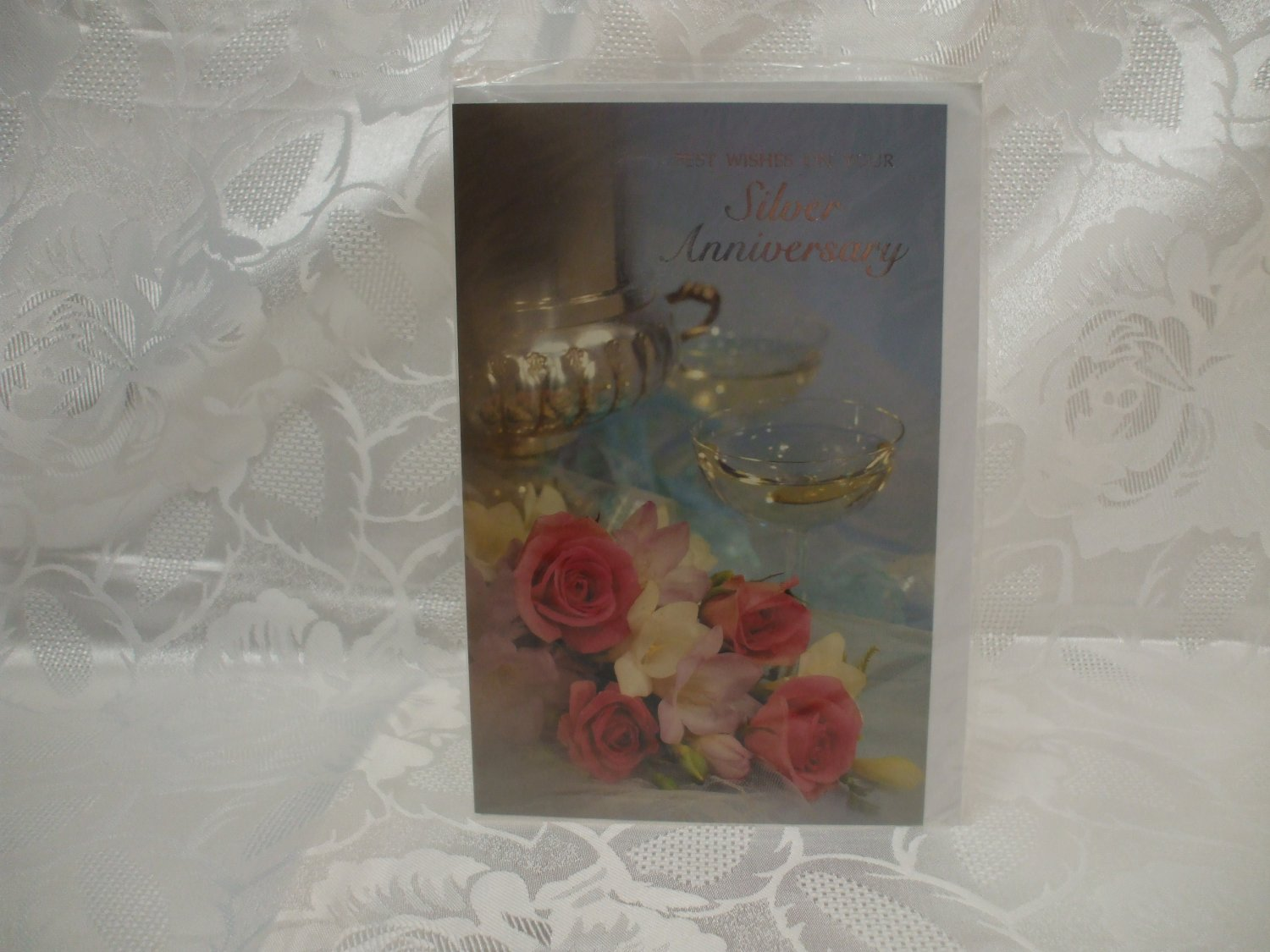 25 Years Of Marriage Silver Wedding Anniversary Best Wishes Card