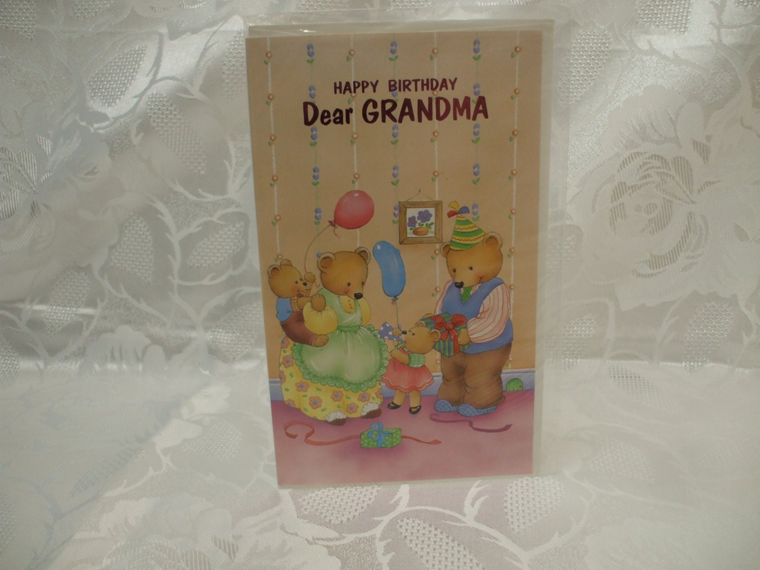 Happy Birthday Dear Grandma Card And Envelope Sealed