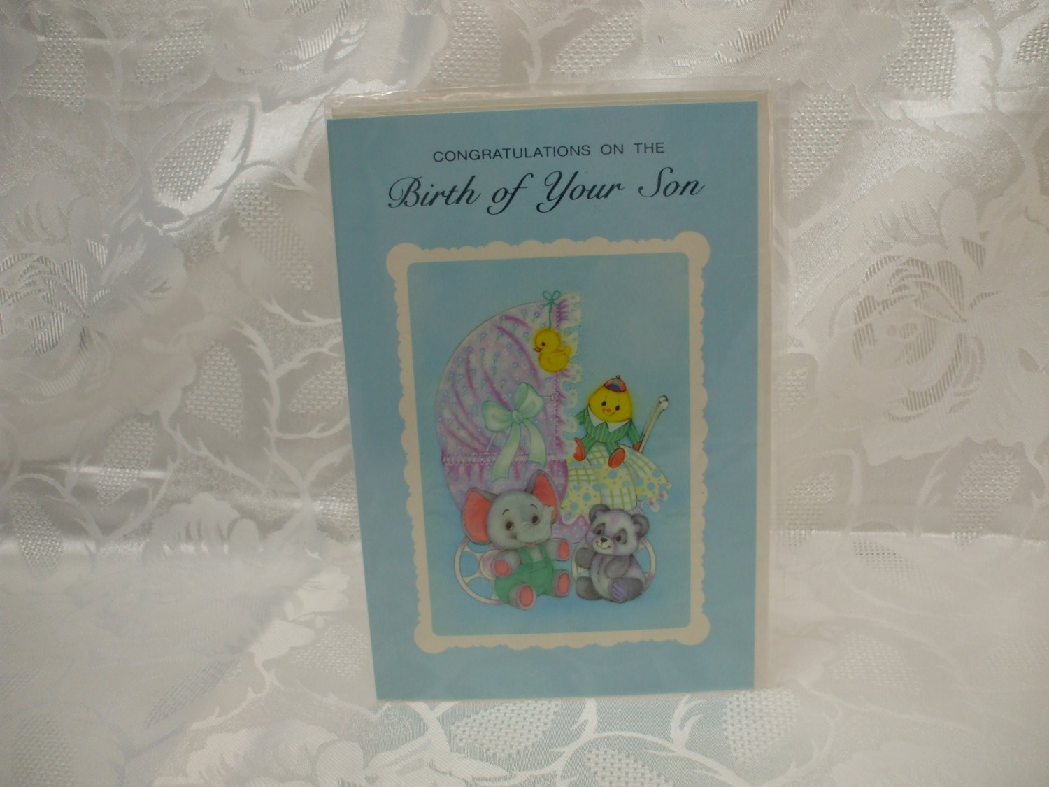Congratulations On The Birth Of Your Son Card And Envelope Sealed