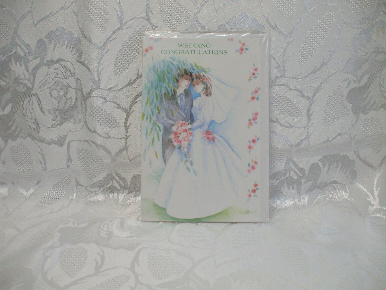 Wedding Congratulations Card Bride And Groom