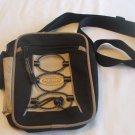 Aero Sport beige black canvas purse   adjustable shoulder strap