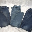 3 Pairs Denim Jeans Size 14 Regular Straight Legs