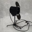 Black Spotlight With Stand And Adjustable Flaps And Cord