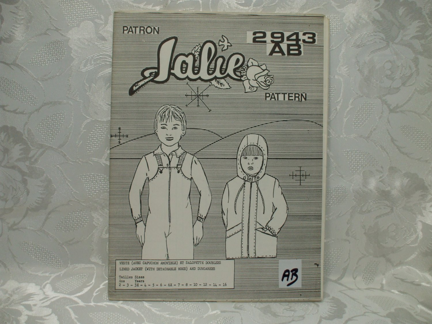 Jalie Pattern 2943AB Lined Jacket With Detatachable Hood And Dungarees UNCUT 18 Pieces