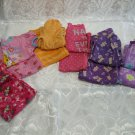 Lot of 6 Girls Pyjamas Tops and Bottoms 3-4 Years Old