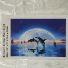 300 Pc Puzzle Swim In The Moonlight Puzzle  13 in x 19 in NO BOX