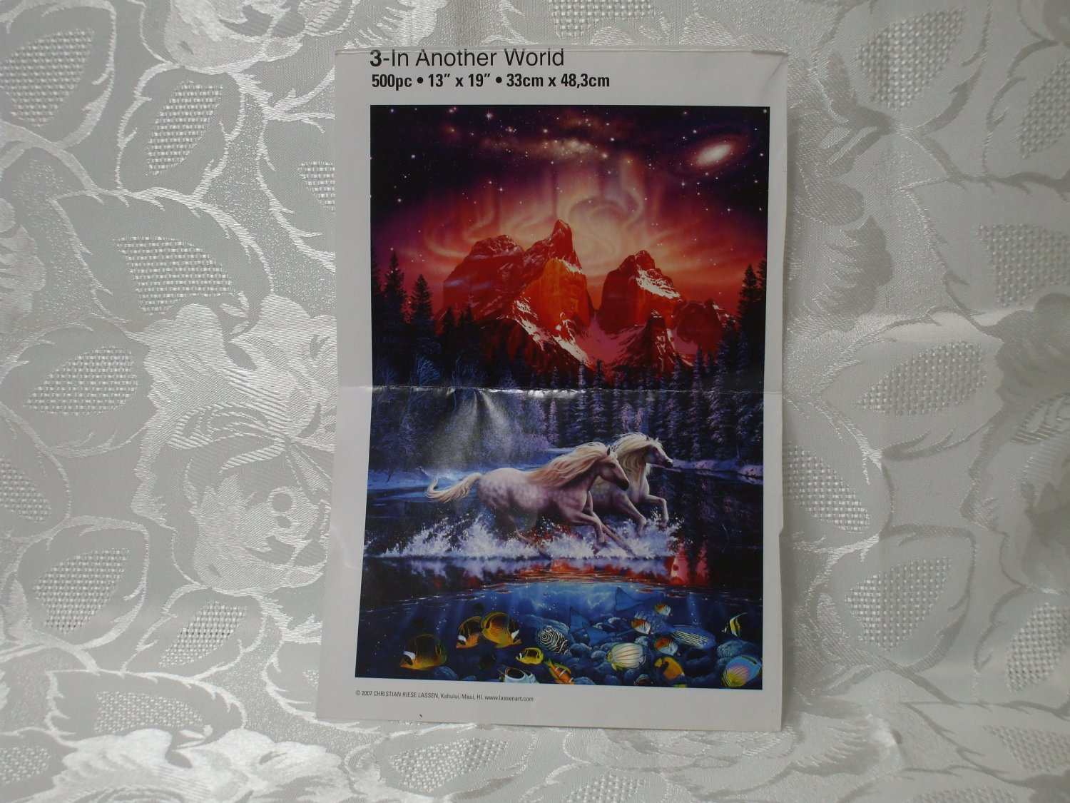 500 Pc Puzzle In Another World  Puzzle  13 in x 19 in NO BOX