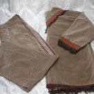 Large Native American Brown Velour Costume
